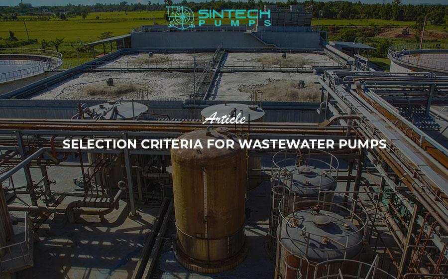 Wastewater pumps - Sintech